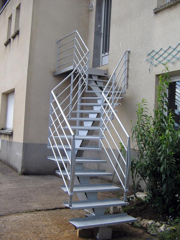Escalier d'extérieur