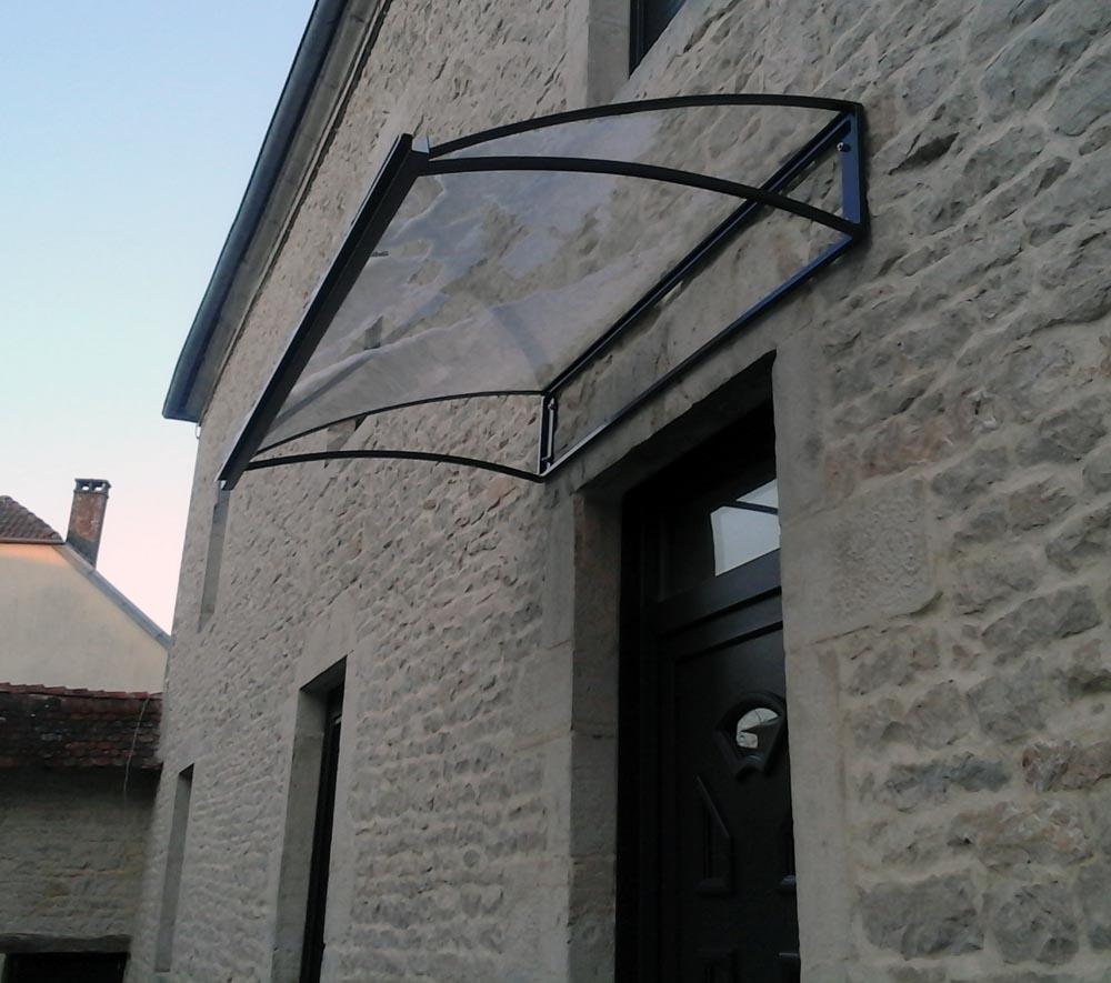 Marquise - Avant toit pour entrée en verre